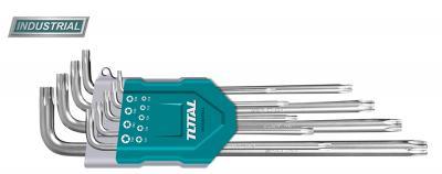 Set 9 chei imbus Torx - T10-T50 - Cr-V, brat lung (INDUSTRIAL)