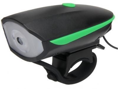 LANTERNA LED + CLAXON - 250 lumeni - USB - baterie 1200 mAh - 3 functii - 120 dB
