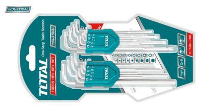 Set 18 chei imbus Hex&Torx -1.5-10mm - T10-T50, Cr-V, brat extra-lung (INDUSTRIAL)