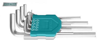 Set 9 chei imbus hexagonale - cap bila - 1.5-10mm, Cr-V, brat lung (INDUSTRIAL)