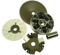 VARIATOR GY6 COMPLET GY6 50 (role + ghiduri + bucsa + paleta racire + fulie dintata + pinion cuplaj rac)